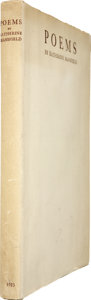 Books:First Editions, Katherine Mansfield. Poems. London: Constable & Co.,[1923]....