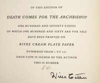 Willa Cather. Death Comes for the Archbishop. With Drawings and Designs by Harold Vo