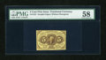 Fractional Currency:First Issue, Fr. 1231 5c First Issue PMG Choice About Unc 58....