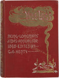 Books:First Editions, G. A. Henty, editor. Yule Logs. Longman's Christmas Annual for1898. New York: Longmans, Green, and Co., 1898....