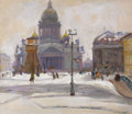 Fine Art - Painting, Russian:Contemporary (1950 to present), SERGEI IVANOVICH OSIPOV (Russian, 1915-1985). St. Isaac'sCathedral, St. Petersburg. Oil on artist board. 22 x 26inches...