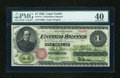 Fr. 17a $1 1862 Legal Tender PMG Extremely Fine 40