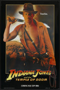 "Movie Posters:Adventure, Indiana Jones and the Temple of Doom (Paramount, 1984). One Sheet(27"" X 40"") Advance. Adventure...."