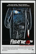 "Movie Posters:Horror, Friday the 13th (Paramount, 1980). One Sheet (27"" X 41""). Horror...."
