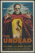 "Movie Posters:Horror, The Undead (American International, 1957). One Sheet (27"" X 41""). Horror...."