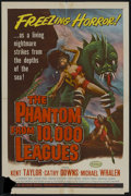 "Movie Posters:Science Fiction, The Phantom From 10,000 Leagues (American Releasing Corp., 1955).One Sheet (27"" X 41""). Science Fiction...."