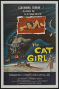 "Movie Posters:Horror, The Cat Girl (American International, 1957). One Sheet (27"" X 41""). Horror...."