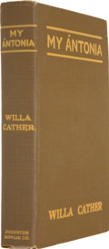 Books:First Editions, Willa Cather. My Ántonia. With Illustrations by W.T. Benda.Boston: Houghton Mifflin Company, 1918....