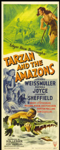 "Movie Posters:Adventure, Tarzan and the Amazons (RKO, 1945). Insert (14"" X 36"").Adventure...."