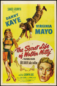 """The Secret Life of Walter Mitty (RKO, 1947). One Sheet (27"""" X 41"""") Style A. Comedy"""