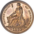 Patterns, 1870 3C Three Cent Silver, Judd-799, Pollock-886, Low R.7, PR67 Red and Brown NGC....