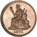 Patterns, 1871 H10C Standard Silver Half Dime, Judd-1060, Pollock-1195, LowR.7, PR66 ★ Red and Brown NGC...