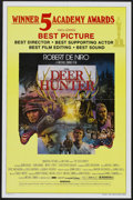"Movie Posters:Academy Award Winner, The Deer Hunter (Universal, 1978). One Sheet (27"" X 41"") AcademyAward Style and Program (10"" X 15""). Academy Award Winner....(Total: 2 Items)"