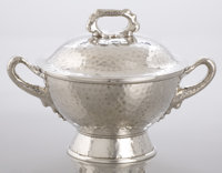 AN AMERICAN SILVER AND SILVER GILT SMALL TUREEN WITH COVER Tiffany & Co., New York, New York, circa 1879 Marks: