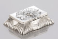 Silver Smalls:Other , AN AMERICAN SILVER AND SILVER GILT STAMP BOX. Unger Bros., Newark,New Jersey, circa 1890. Marks: (interlaced UB), STERLIN...