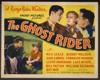 """The Ghost Rider Lot (Superior Talking Pictures, 1935). Title Lobby Cards (2) (11"""" X 14""""). Western.... (Total:..."""