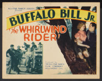 """The Whirlwind Rider (American Picture Company, 1934). Title Lobby Card (11"""" X 14""""). Western"""