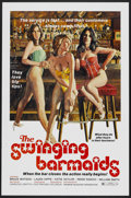 "Movie Posters:Sexploitation, The Swinging Barmaids (Premiere Releasing, 1975). One Sheet (27"" X41"") Flat-Folded. Sexploitation...."