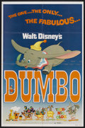 "Movie Posters:Animated, Dumbo (Buena Vista, R-1976). One Sheet (27"" X 41"") and Pressbook (11"" X 15""). Animated.... (Total: 2 Items)"