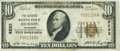 National Bank Notes:Tennessee, Dickson, TN - $10 1929 Ty. 1 The Citizens NB Ch. # 8292. ...