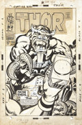 Original Comic Art:Covers, Jack Kirby and Vince Colletta Thor #155 Mangog CoverOriginal Art (Marvel, 1968)....