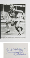 Olympic Collectibles:Autographs, Jesse Owens Signed Cut Signature. ...