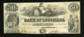 Obsoletes By State:Louisiana, New Orleans, LA- Bank of Louisiana $50 June 14, 1862. ...