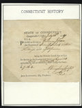 Colonial Notes:Connecticut, Connecticut July 26, 1791 16s 8d About New....