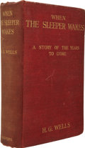 Books:First Editions, H. G. Wells. When the Sleeper Wakes. London and New York:Harper & Brothers, 1899....