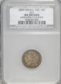 Bust Dimes, 1829 10C Small 10C--Improperly Cleaned--NCS. AU Details. JR-5. NGCCensus: (3/204). PCGS Population (10/156). Mintage: 770,...