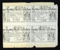 Colonial Notes:New York, Reprint Uncut Sheet New York February 16, 1771 £3-£5-£2-£1-10s-5sVery Fine....