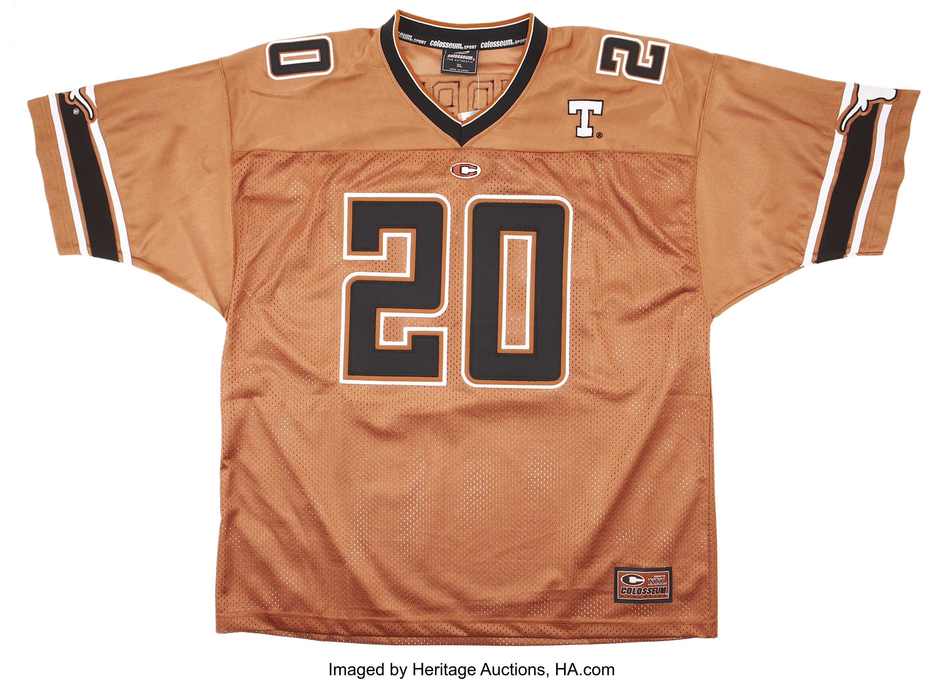 watch 453a4 47792 Earl Campbell Signed University of Texas Jersey ...