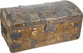 "Antiques:Decorative Americana, [Abraham Lincoln] The Famous ""Grimsley Trunk"", Originally Owned byAbraham and Mary Todd Lincoln. Wooden and undressed-cowhi...(Total: 2 Items)"