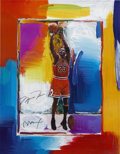 Basketball Collectibles:Others, Late 1990's Michael Jordan Signed Peter Max Lithograph. ...