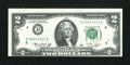 Error Notes:Shifted Third Printing, Fr. 1935-D $2 1976 Federal Reserve Note. Extremely Fine-About Uncirculated.. ...