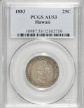 Coins of Hawaii: , 1883 25C Hawaii Quarter AU53 PCGS. PCGS Population (36/1163). NGCCensus: (10/711). Mintage: 500,000. (#10987)...