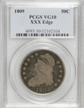 Bust Half Dollars: , 1809 50C XXX Edge VG10 PCGS. PCGS Population (1/25). NGC Census:(0/28). Numismedia Wsl. Price for NGC/PCGS coin in VG10: ...