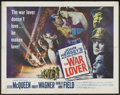 "Movie Posters:War, The War Lover (Columbia, 1962). Half Sheet (22"" X 28""). War...."