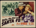 """Movie Posters:Western, Billy the Kid in Santa Fe Lot (PRC, 1941). Title Lobby Cards (2) and Lobby Cards (2) (11"""" X 14""""). Western.... (Total: 4 Items)"""