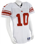 Football Collectibles:Uniforms, 2006 Eli Manning Game Worn Jersey....