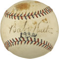 Autographs:Baseballs, 1932 Babe Ruth Single Signed Baseball....