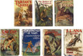 Books:Fiction, Edgar Rice Burroughs. Seven Assorted Titles,... (Total: 7 Items)