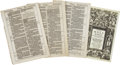 Books:Early Printing, [Bible in English]. Four consecutive leaves from the editioprinceps of the King James Bible...