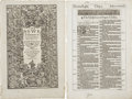 Books:Early Printing, [Bible in English]. Pair of leaves from the 1613 folio edition of the King James Bible,...
