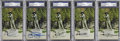 "Autographs:Post Cards, Baseball Hall Of Famers ""Sand Lot Kid"" Signed Postcards PSA Graded Lot of 9.... (Total: 9 items)"