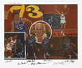 Basketball Collectibles:Others, 1973 New York Knicks World Champion Signed Lithograph....