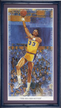 Basketball Collectibles:Others, Kareem Abdul-Jabbar Signed Lithograph....
