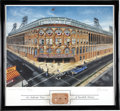Baseball Collectibles:Others, Ebbets Field Framed Print with Piece of the Stadium. ...