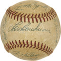 Autographs:Baseballs, 1955 Kansas City A's Team Signed Baseball. ...