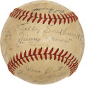 Autographs:Baseballs, 1949 Boston Braves Team Signed Baseball. ...